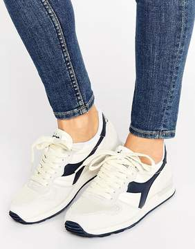 Diadora Camaro Sneakers In Cream & Navy