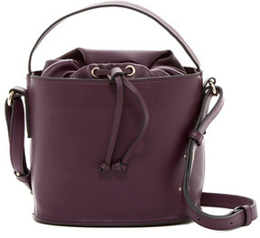 French Connection Dane Faux Leather Drawstring Bucket Bag