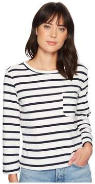 Bishop + Young Stripe Back Lace-Up Top Women's Clothing