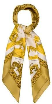 Hermes Courbettes et Cabrioles Silk Scarf
