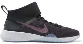 Nike Air Zoom Strong 2 Metallic Mesh And Rubber Sneakers - Black