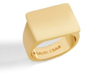 BaubleBar Women's Square Statement Ring