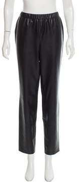 Basler Mid-Rise Faux Leather Pants