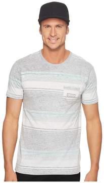 VISSLA Bartlett Reverse Printed Short Sleeve Pocket Knit T-Shirt Men's Clothing