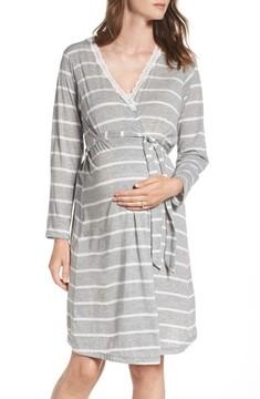Belabumbum Women's Heather Maternity Robe