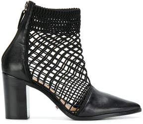 Schutz pointed perforated boots