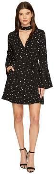 J.o.a. Star Choker Neck Wrap Dress Women's Dress