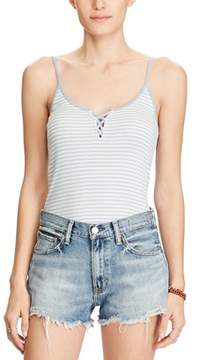 Denim & Supply Ralph Lauren Striped Lace Up Camisole Top.
