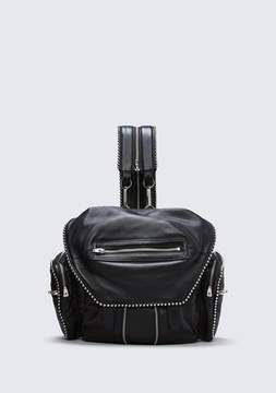 Alexander Wang BALL STUD MARTI IN BLACK WITH RHODIUM