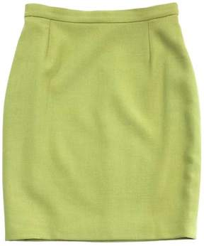 Christian Lacroix Green Wool Skirt