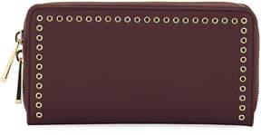 Zac Posen Earthette Micro-Grommet Wallet, Wine