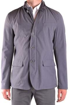 Herno Men's Grey Polyester Outerwear Jacket.