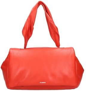 Jil Sander Red Leather Bag