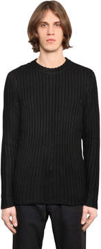 Denham Jeans Cotton Rib Knit Sweater