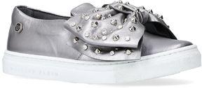 Philipp Plein Diana Embellished Bow Skate Shoes