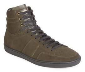Saint Laurent Hi-Top Lace Sneakers