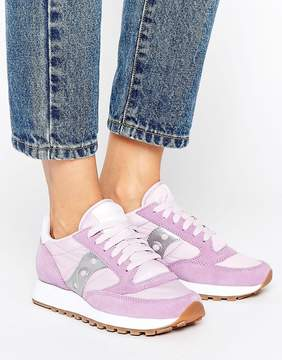 Saucony Exclusive Jazz Original Sneakers In Lilac & Silver