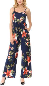 Celeste Navy Floral Sleeveless Wide-Leg Jumpsuit - Women & Plus