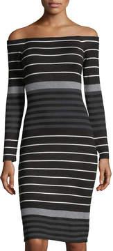 Eliza J Off-The-Shoulder Sweater Dress