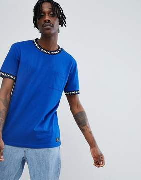 DC T-Shirt With Neck Taping Detail In Blue