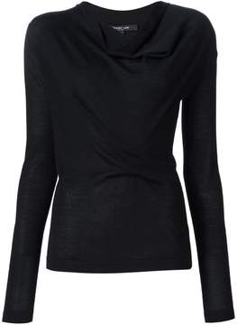 Derek Lam Long Sleeve Sweater With Drape Front