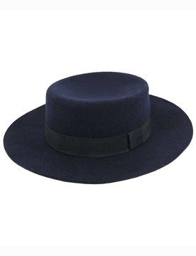 ELOQUII Felt Boater Hat
