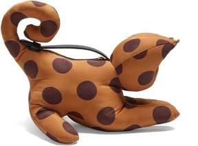 Loewe Cat polka-dot clutch