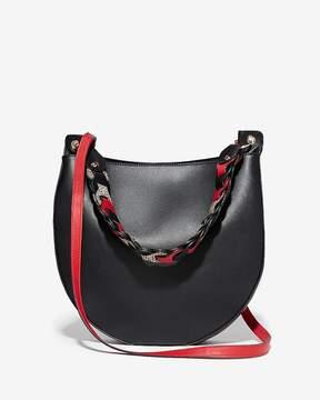 Express Link Handle Hobo Crossbody Bag