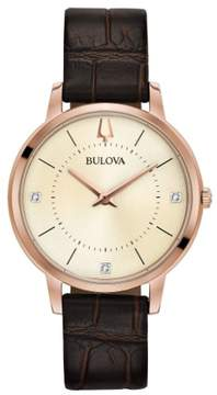 Bulova 97P122 Classic Womens Watch Brown 36mm Stainless Steel
