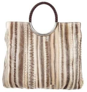 Michael Kors Snakeskin Tote - NEUTRALS - STYLE
