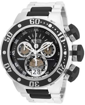 Invicta Men's Reserve Chronograph Stainless Steel Black Dial
