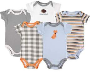 Luvable Friends ONLINE Newborn Baby Boys Bodysuit 5-Pack Fox