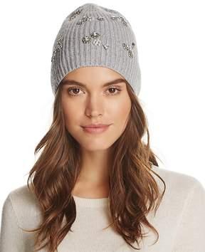 Aqua Embellished Rib Hat - 100% Exclusive