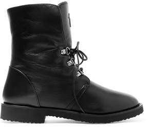 Giuseppe Zanotti Shearling-lined Leather Boots - Black