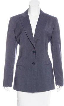 Calvin Klein Collection Long Sleeve Wool Blazer