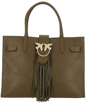 Pinko Handbag Love Bag Ululato In Leather With All-over Print