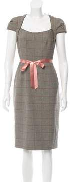 David Meister Plaid Sheath Dress