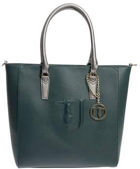 Trussardi Ischia Saffiano Faux Leather Tote Bag
