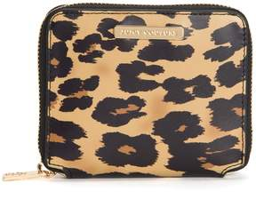 Juicy Couture Zephyr Leopard Small Zip Around Wallet