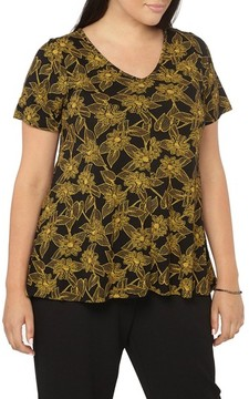 Evans Plus Size Women's Floral Print Top