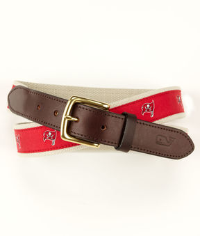 Vineyard Vines Tampa Bay Buccaneers Canvas Club Belt