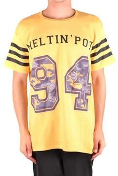 Meltin Pot Men's Mcbi340107o Yellow Cotton T-shirt.