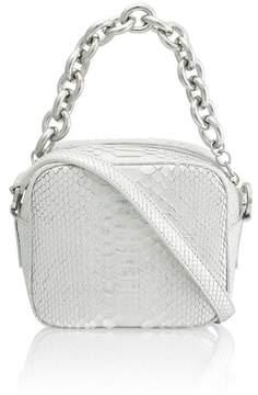 Amanda Wakeley Jackson Silver Python Pochette Bag