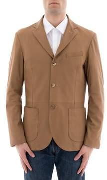 Lardini Men's Brown Leather Blazer.