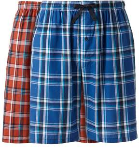 Hanes Big & Tall Classics 2-pack Plaid Woven Jams Shorts