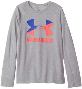 Under Armour Kids Big Logo Long Sleeve Girl's Clothing