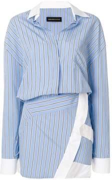 Alexandre Vauthier striped shirt dress