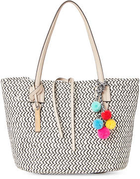 Vince Camuto Natural & Black Colle Corded Tote