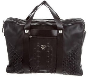 MCM Embossed Leather Briefcase