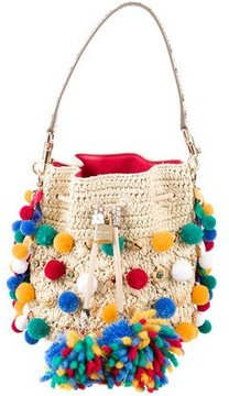 Dolce & Gabbana Claudia Pom-Poms Bucket Bag - NEUTRALS - STYLE